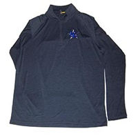 Kc Star Embroidered Space Dye Quarter Zip