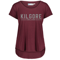 Kilgore College Ladies Heather Tee